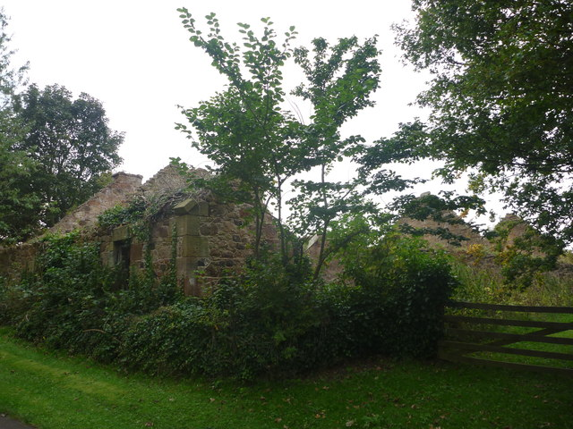 Rural East Lothian : Ruins Near Linkylea House