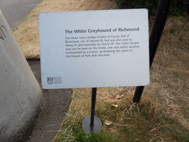 White Greyhound of Richmond sign