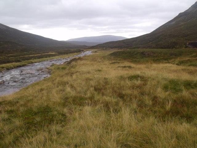 River Eidart below waterfall