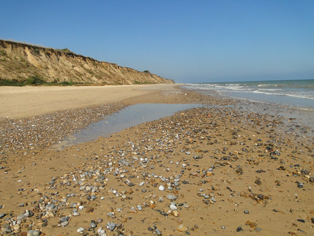 Covehithe cliffs and the rising tide