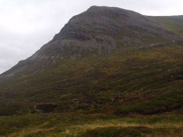 Southern flank of Coire Mharconaich above River Eidart, Glenfeshie