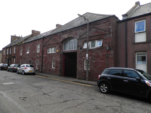 Former drill hall in Arbroath