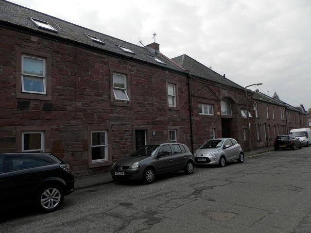 Former drill hall in Arbroath