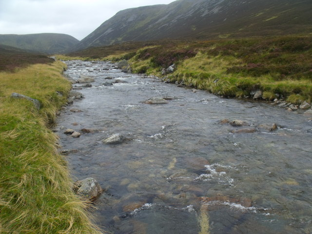 Leth-chreag from the banks of the River Eidart, Glenfeshie