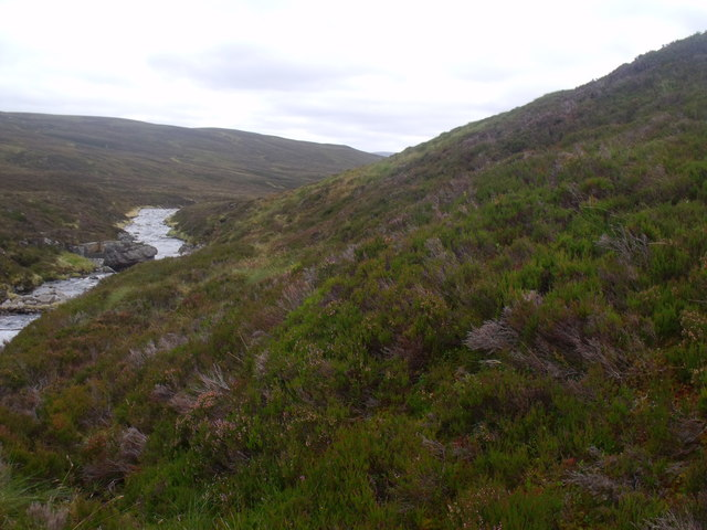 Looking down the Eidart on Glenfeshie estate