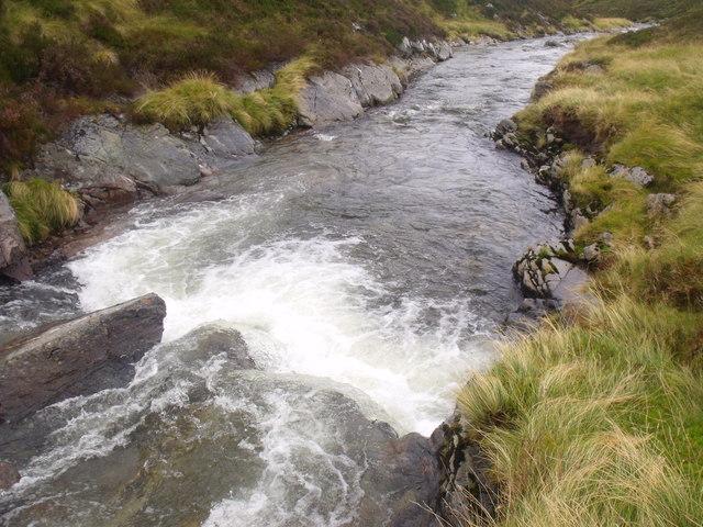 Waterfall on River Eidart, Glenfeshie