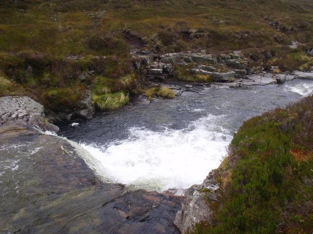 Water chute on River Eidart, Glenfeshie