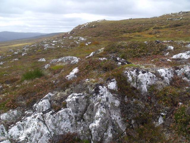Quartzite outcrop west of River Eidart, Glenfeshie