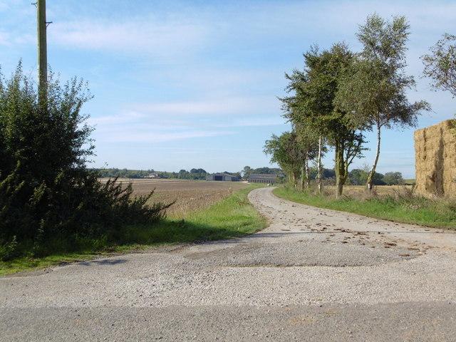Farm road to Orgarth Hill Farm, Tathwell