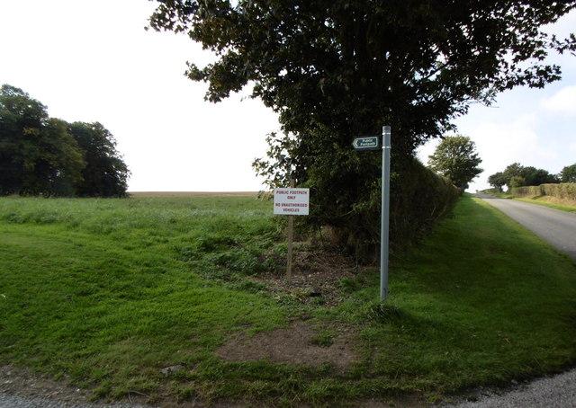 Public footpath to Worlady