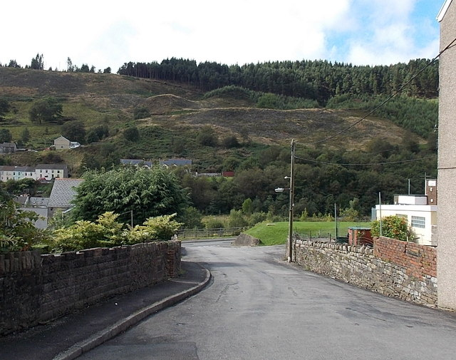 View of a hill from Hill View, Pontycymer