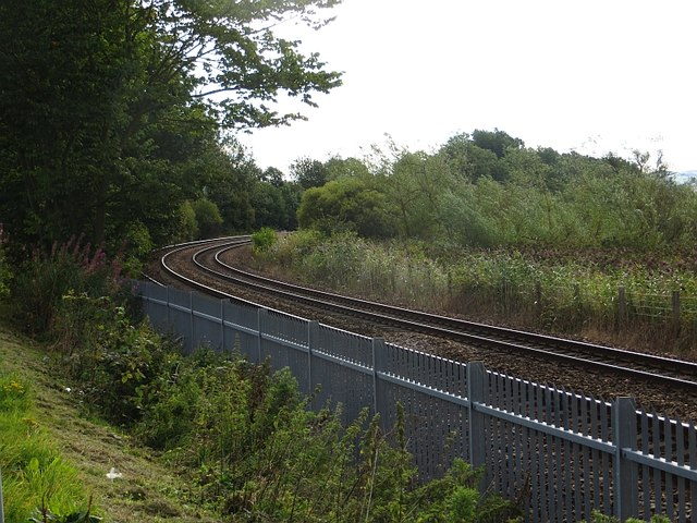 Railway passing Insherrit Island