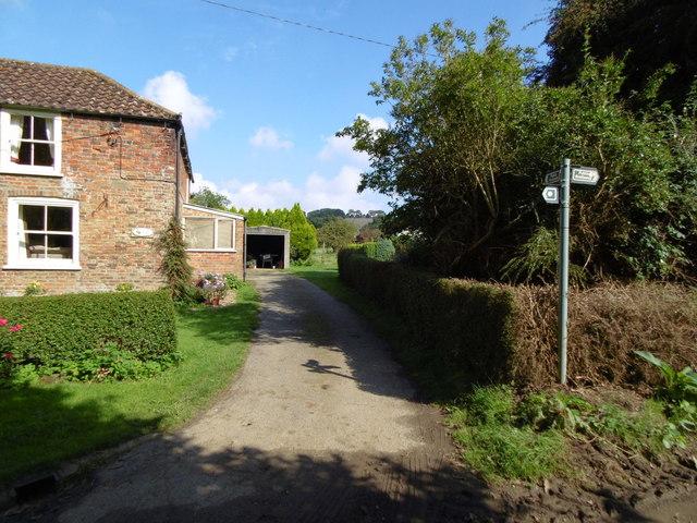 Footpath off Clay Lane, Tetford