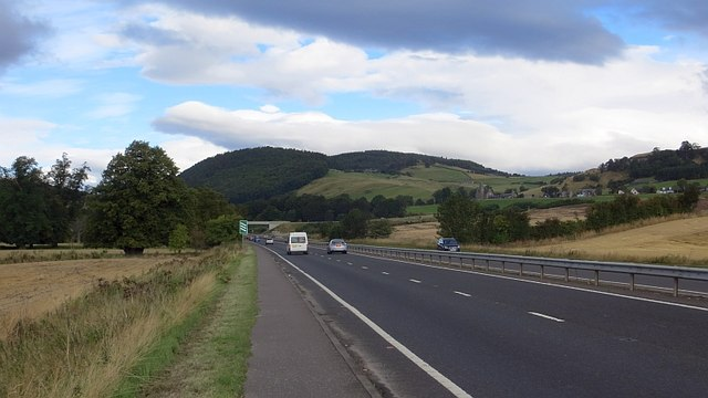 A90, approaching Kinfauns