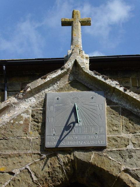 Sun dial  at St Mary's Church, Tetford
