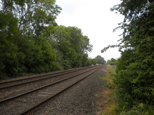 Railway line east of Thurgarton