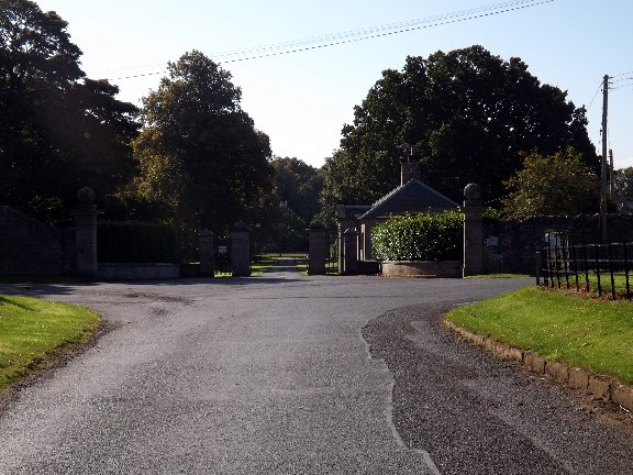 Eastern entrance to Ladykirk House Estate
