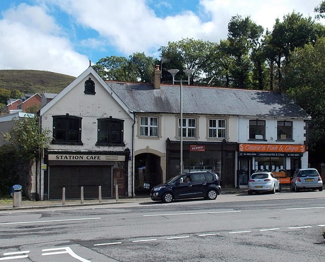 East side of The Square in Pontycymer