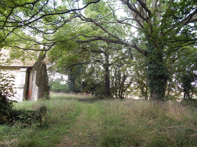 Path by Chickney church