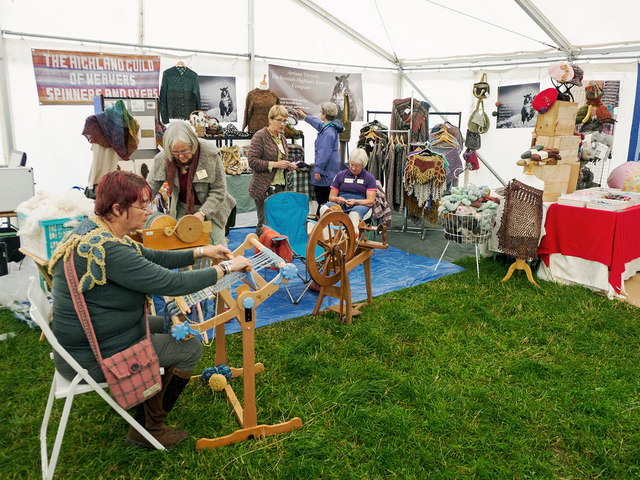 The Highland Guild of Weavers, Spinners and Dyers at the World Sheep Dog Trials