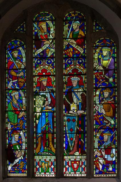 Stained glass window, Kilkhampton church