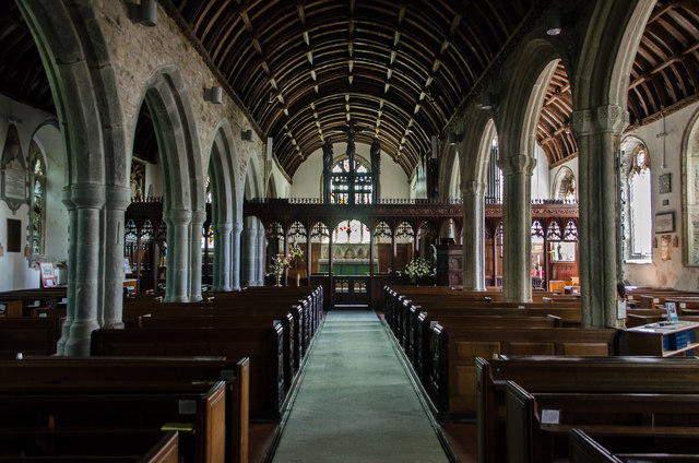 Interior, St Andrew's church, Stratton
