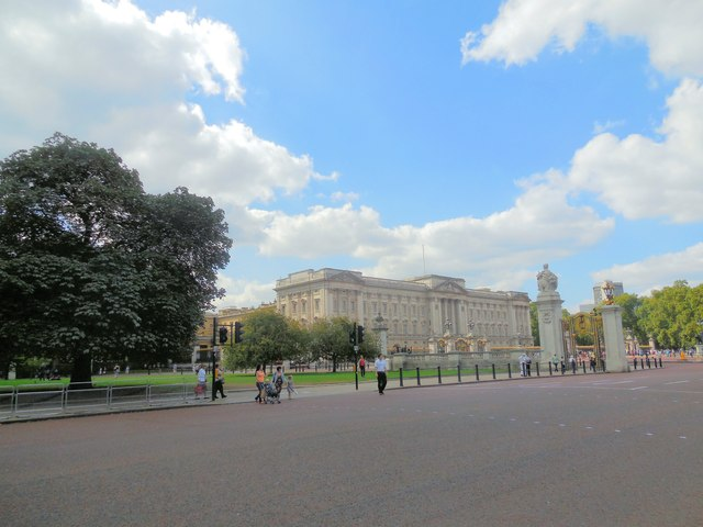 Buckingham Palace, viewed from St James's Park