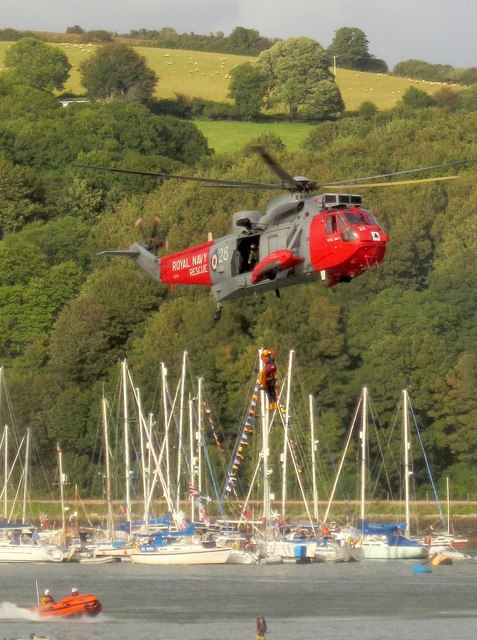 Air sea rescue display at Dartmouth Regatta