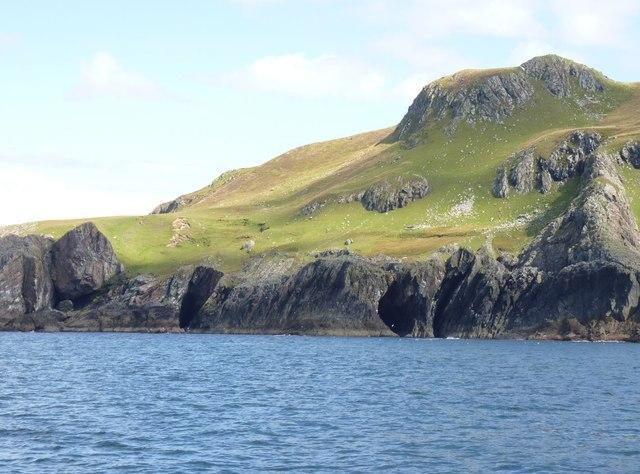 Beinn Ghlas, caves and coastline, Islay