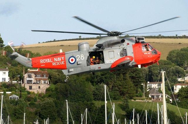 Sea King helicopter, Dartmouth Regatta