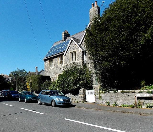 Solar panels, St John's Vicarage, Clevedon