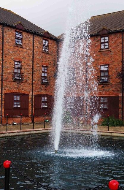 Fountain by the Premier Inn, Shirwell Crescent, Furzton, Milton Keynes