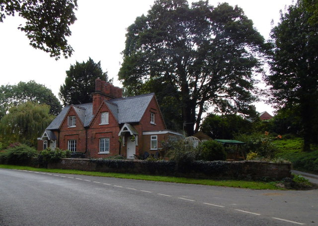 Houses on Raithby Road, Raithby by Spilsby