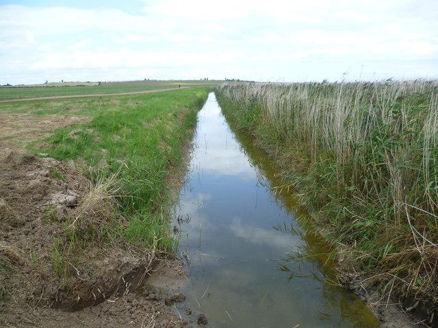 Drainage channel near Capel Fleet