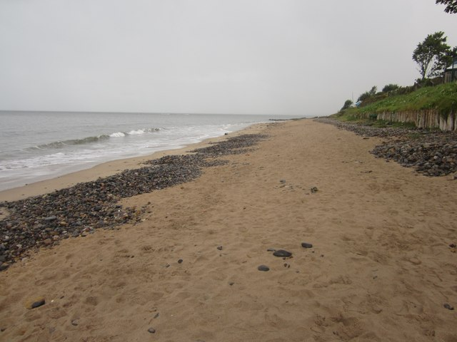 The beach at Foxton Hall