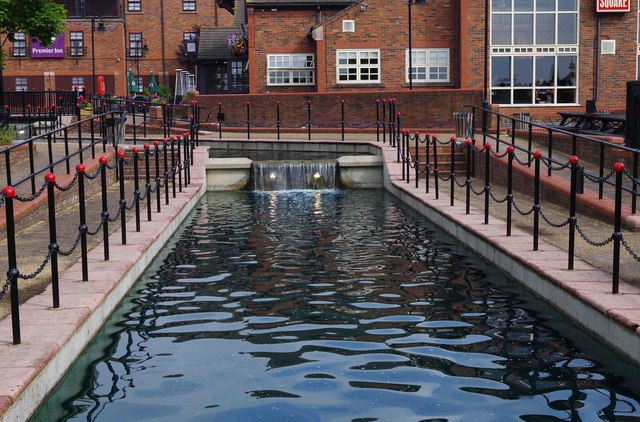 The ornamental canal at the Premier Inn, Shirwell Crescent, Furzton, Milton Keynes