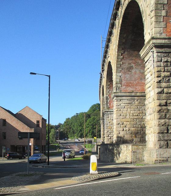 Durham: beneath the viaduct