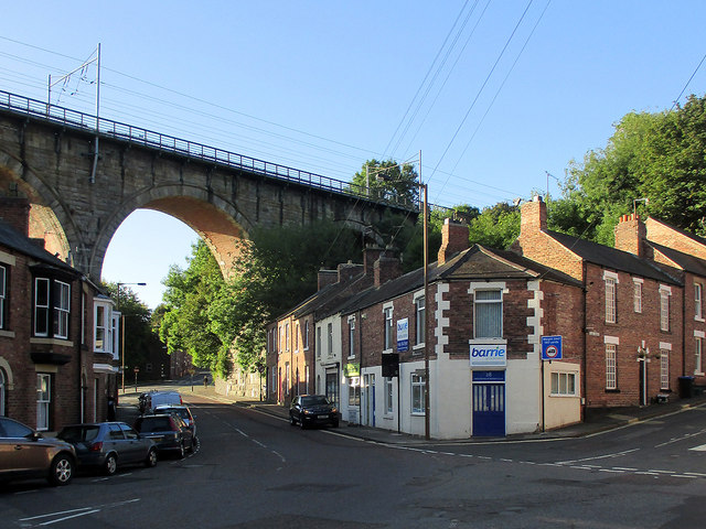 Durham: Sutton Street and the viaduct