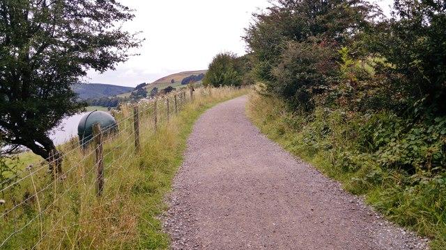 Path alongside Ladybower Reservoir