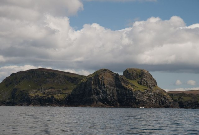 Dun Bheolain from the sea, Islay