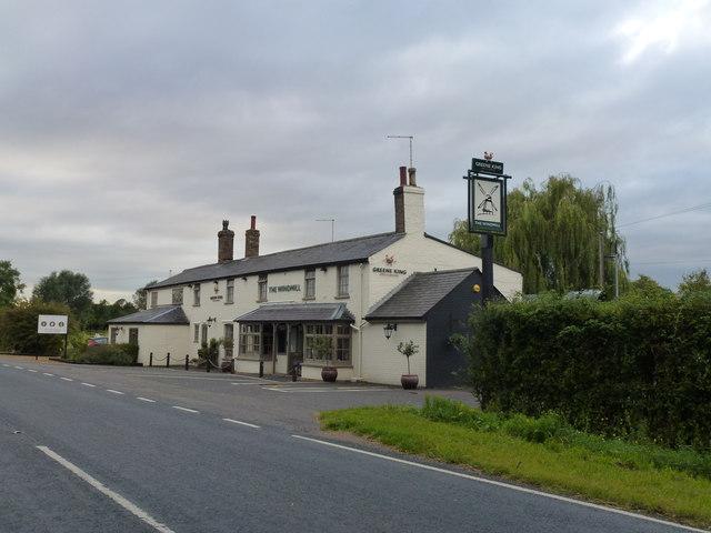 The Windmill Pub near Somersham, Cambridgeshire