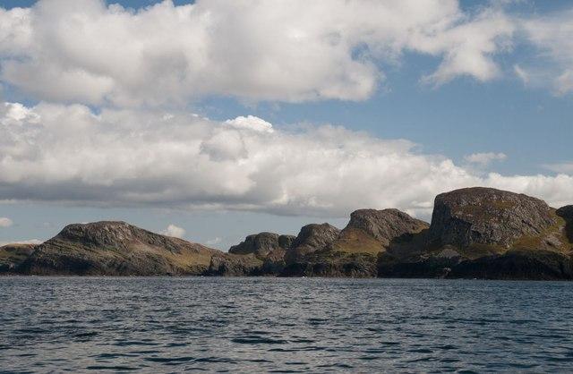 Sanaig Rocks viewed from the sea