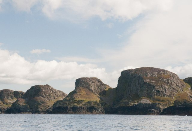 Sanaig Rocks viewed from the sea