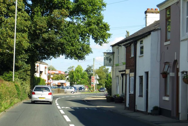 Blackpool Lane passes the Grapes
