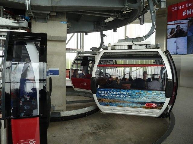 Emirates Cable Car - Gondolas await embarkation