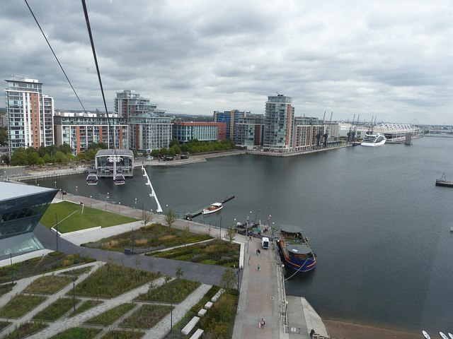 Emirates Cable Car - View of Royal Victoria Dock