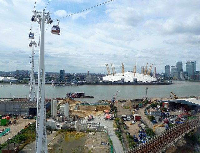 Emirates Cable Car - View to Greenwich Peninsula