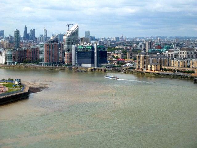 Emirates Cable Car - View westwards across London