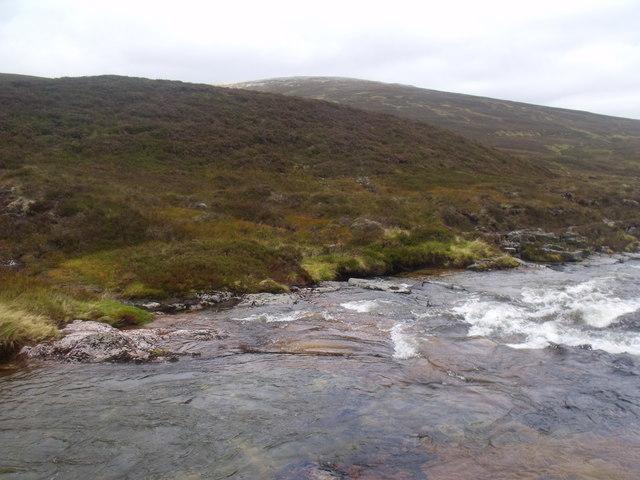River Eidart above 'water chute' feature