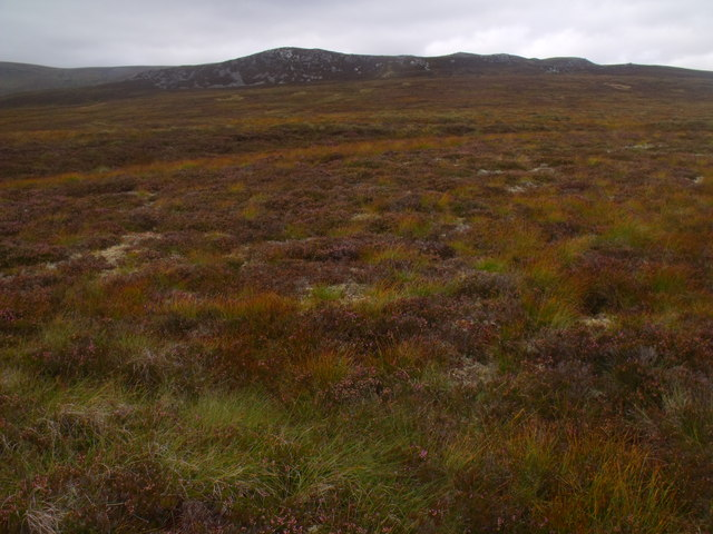View north from peaty ridge west of Caochan Ban in the Eidart system
